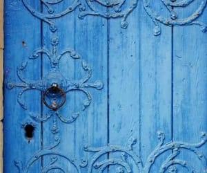 blue, door, and color image