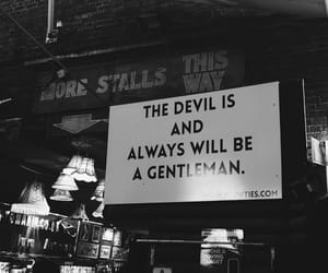 Devil, quotes, and black image