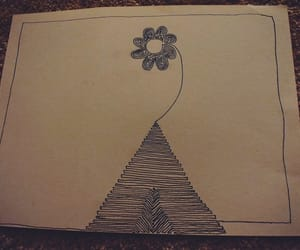 doodle, flowers, and doodling image