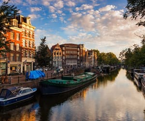 holland, amsterdam, and boat image