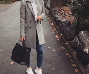 hijab, grey, and jeans image