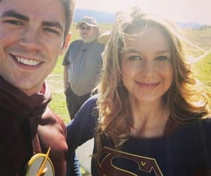 Supergirl, the flash, and grant gustin image