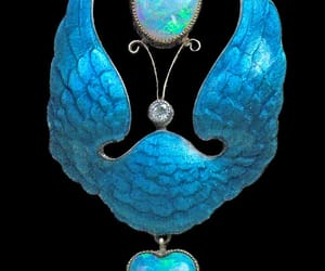 aesthetic, blue, and brooch image