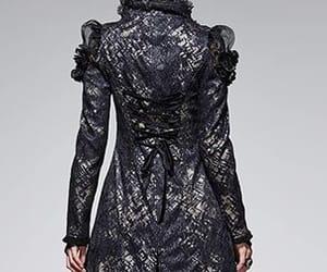 coat, elegant, and gothic image