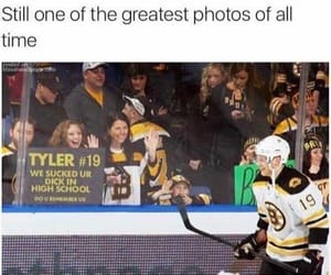 funny, hockey, and girls image