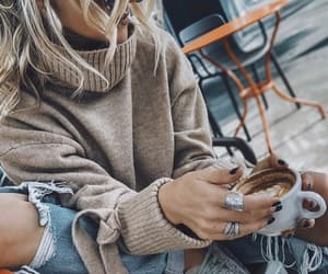 blogger, coffee time, and ootd image