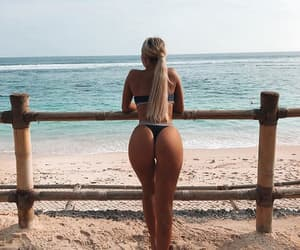beach, beauty, and bikini image