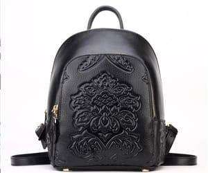 black, elegant, and backpack image