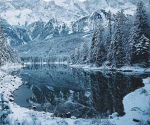 winter, snow, and blue image