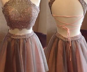 prom dresses short, two pieces prom dresses, and homecoming dress lace image