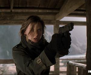 badass, girl, and gun image
