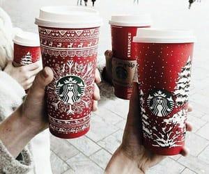 christmas, starbucks, and cute image