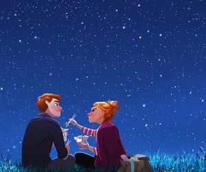 night, love, and stars image