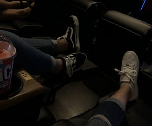 dark, guess, and ripped jeans image