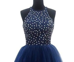 blue prom dress, navy blue prom dress, and prom dress ball gown image