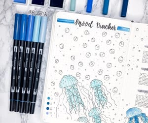 blue, journaling, and school image