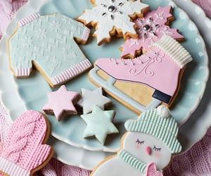 Cookies, christmas, and snow image