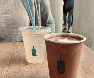 blue bottle, california, and food image