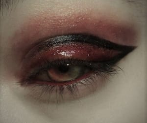 eye, grunge, and red image