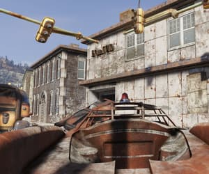 fallout, grungy, and police station image