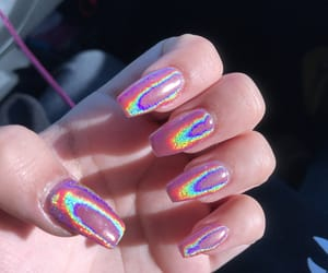 color, holographic, and nail image