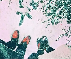 cold, feet, and snow image