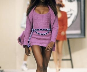 Naomi Campbell, runway, and model image