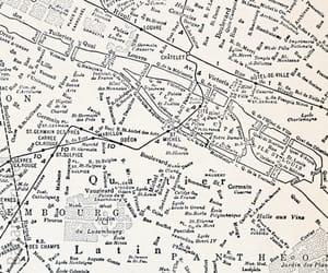 map, paris, and vintage image