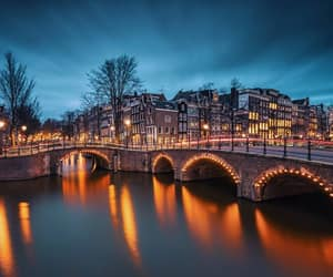 amsterdam, lights, and netherlands image