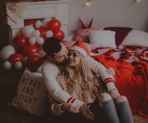 couple, boyfriend, and christmas image