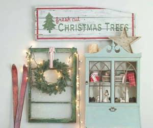 christmas lights, christmas tree, and living room image