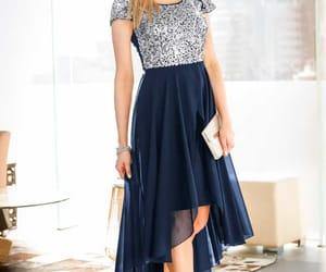 blue dress, dress, and luxury image