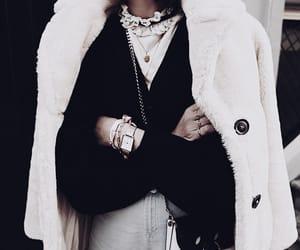 coat, jewelry, and fashion image