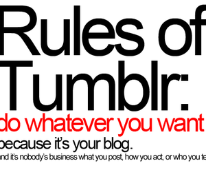 rules, tumblr, and text image