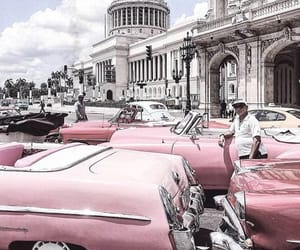 city, pink, and car image