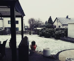 cold, garden, and snow image