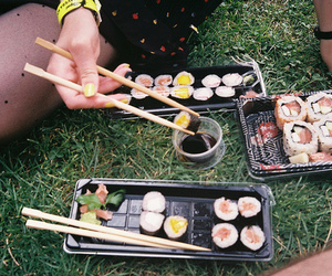 food, sushi, and vintage image