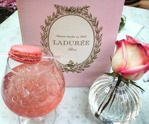 pink, drink, and laduree image