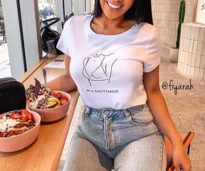 fashion style, closet clothing, and healthy fruits image
