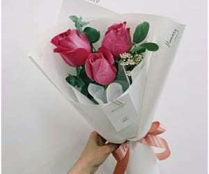 bouquet, white, and aesthetic image
