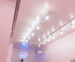 cafe, pink, and cute cafe image