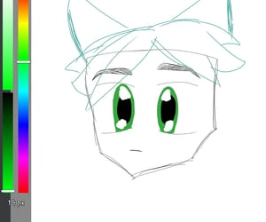 anime, draw, and drawings image