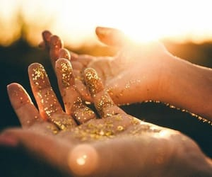 glitter, hands, and light image