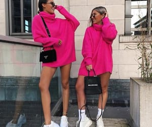 bags, pink, and bff image