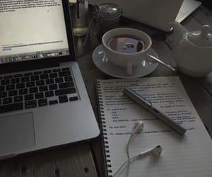 study, school, and tea image
