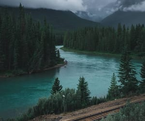canada, mountains, and water aesthetics image