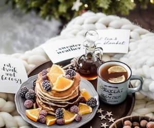 christmas, pancakes, and tea image