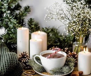 candles, candy cane, and christmas image