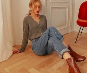 blouse, boots, and common image