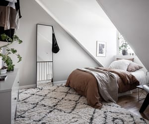 bedroom, interior, and loft image